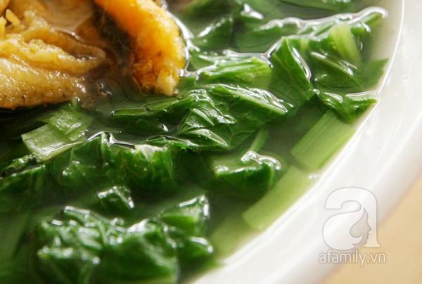 Bánh đa cá rô đồng Hà Nam - bát canh