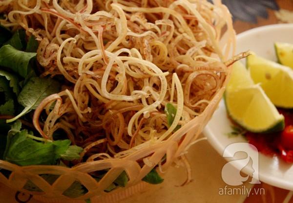 Bánh đa cá rô đồng Hà Nam - rau ghém