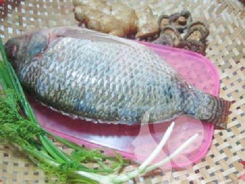 Nguyên liệu làm món cá rô phi hấp gừng